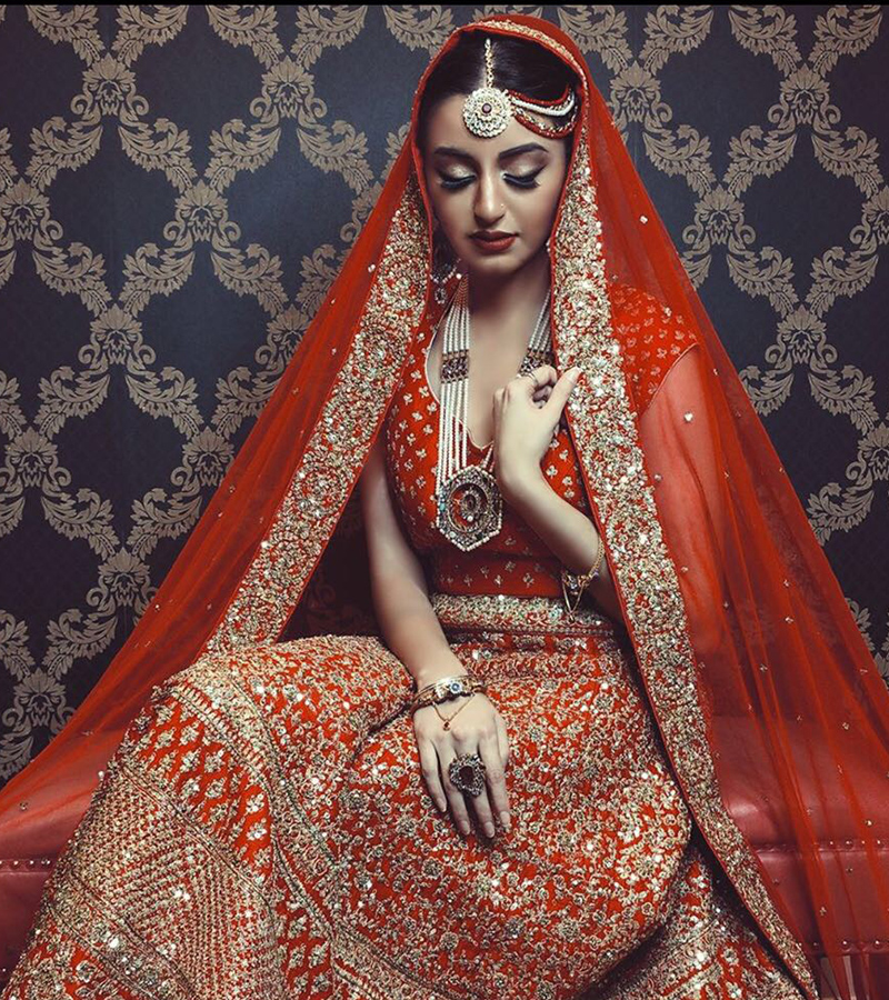 red Ceremony Bridal Lengha
