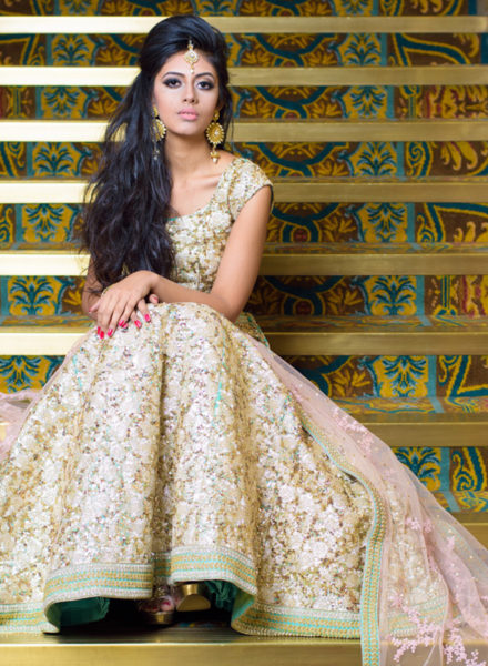 Gold Reception Lengha