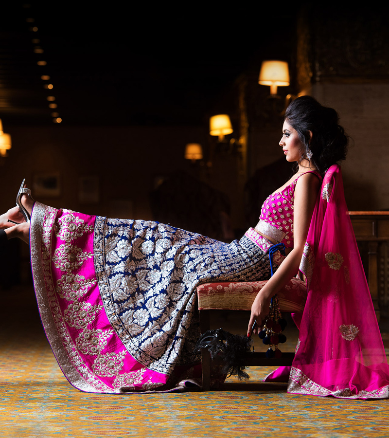 Pink Reception Bridal Lengha